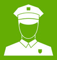 pilot icon green vector image vector image