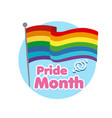 pride month rainbow flag background image vector image