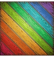 Rainbow Old Wooden Painted Wall vector image vector image