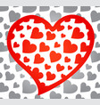 red heart with monochrome background vector image vector image