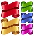 ribbon frame set vector image vector image