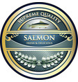 salmon gold icon vector image vector image