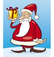 Santa with gift vector image vector image