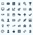 set of simple teamwork icons vector image vector image
