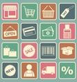 shopping icon vector image