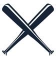 silhouette of a baseball bats vector image