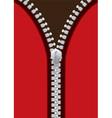 silver metal zipper jacket vector image vector image