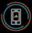 simple mobile thin line icon vector image