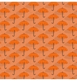 Simple seamless pattern with umbrellas vector image vector image