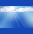 sky with clouds and sun background vector image
