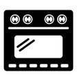 small gas oven icon simple style vector image