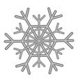 Snowflake icon black monochrome style vector image vector image