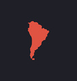 South america computer symbol vector image