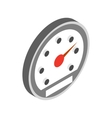 Speedometer icon isometric 3d style vector image vector image