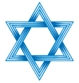 Star of david - symbol of israel vector image vector image