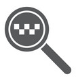 taxi search glyph icon find and taxi lens sign vector image vector image