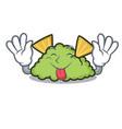 tongue out guacamole mascot cartoon style vector image vector image