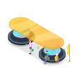 transport passenger platform isometric 3d icon vector image vector image