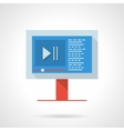 Video blog flat color design icon vector image
