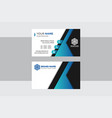 visiting company creative and clean business card vector image vector image