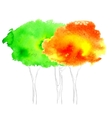Watercolor tree vector image vector image