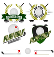 Professional logo of golf club labels and emblems vector image