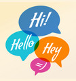 speech bubble communication vector image