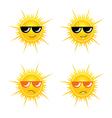 sun with sunglass vector image