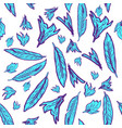 seamless pattern feathers vector image