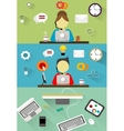Technical support customer service flat vector image