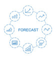 8 forecast icons vector image vector image