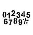 a set of numbers made by the stencil and drips of vector image vector image