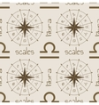 Astrology sign Scales Seamless pattern