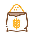 bag of natural wheat flour icon thin line vector image vector image