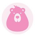 bear female logo silhouette head profile picture vector image vector image