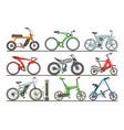 bicycle modern e-bike design bikers cycle vector image vector image