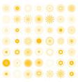 big set of retro sun burst shapes 49 vintage logo vector image vector image