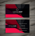 black and red business card vector image vector image