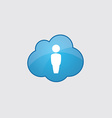 Blue cloud male icon vector image vector image