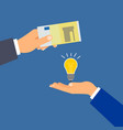 buy euro money idea business concept vector image
