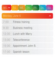 calendar app template vector image