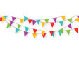 carnival garland with flags decorative colorful vector image vector image