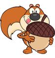 Cartoon squirrel design vector image vector image