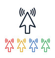 click icons cursor shaped touch symbols vector image