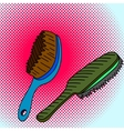 Comb Pop art vector image