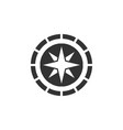 compass icon design template isolated vector image vector image