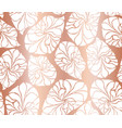 copper mosaic leaves seamless background vector image vector image