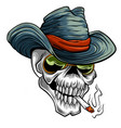 cowboy skull cartoon style vector image