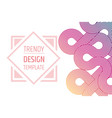 design templated minimalistic trendy layout vector image vector image