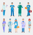 doctor character isolated vector image vector image